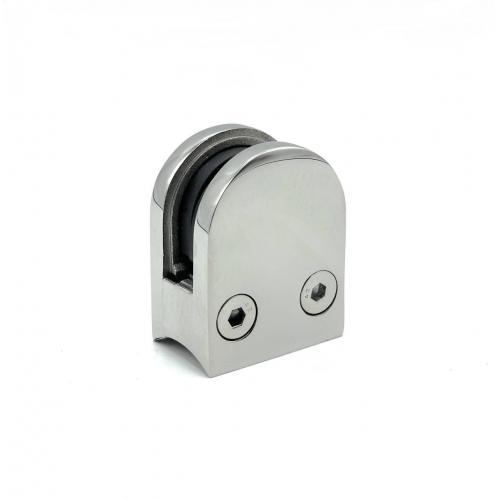 Стеклодержатель литой под стекло 10 мм для круглой трубы ф38,1 / ф42,4 мм
