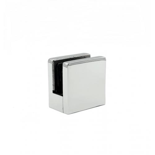 Стеклодержатель литой под стекло 6 мм для квадратной трубы